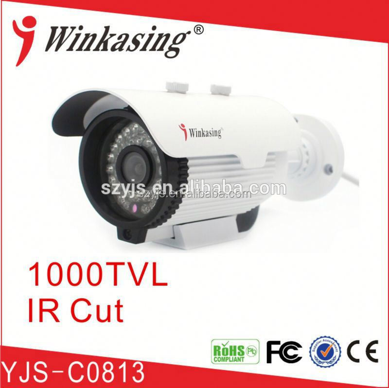 "1/4"" color CMOS 1000TVL Outdoor waterproof Varifocal Bullet IR CCTV Camera"