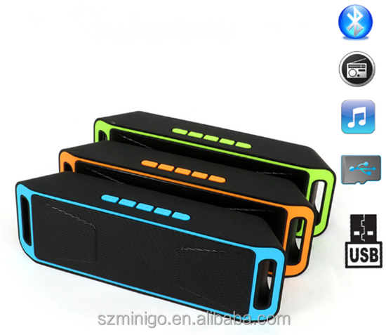Computer,Mobile Phone Use and Active Type rectangle bluetooth speaker SC208