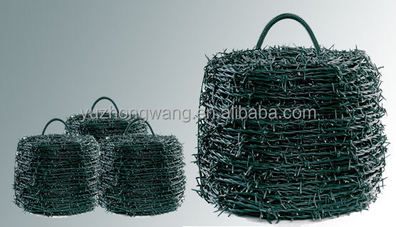 12/14 PVC COATED BARBED WIRE 100M
