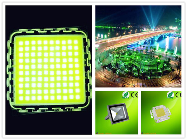 High brightness 100w pure white led flood light source_