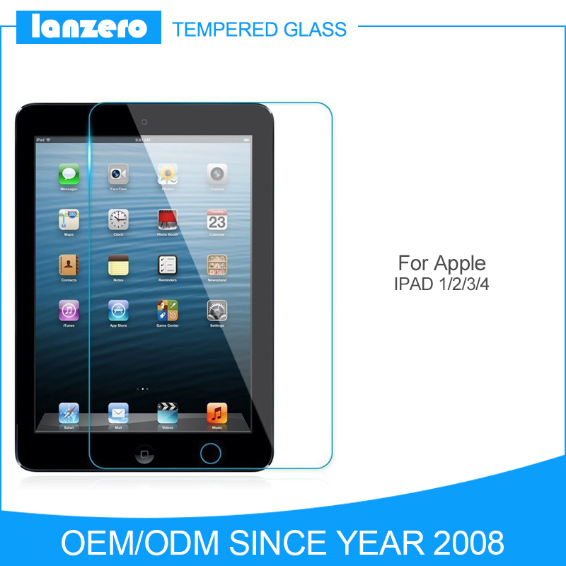 2.5D 0.33mm 9H Tempered Glass Screen Protector for IPAD 1 2 3 4