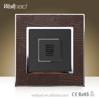 Hot Sales Wallpad Brown Leather Frame 110-250V Voice Light Control Light Switch