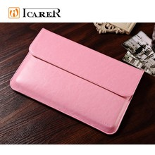 ICARER Business genuine leather Laptop Sleeve Bags for MacBook Air