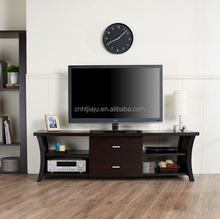 Hot-selling chocolate dark color wood livning room furniture TV stands in stock