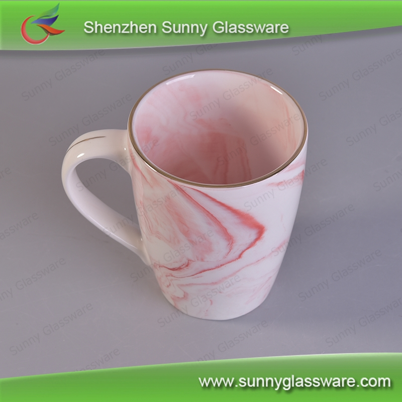 Promotional Ceramic Coffee Mug Marble Beverage Cups
