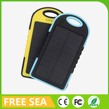 5000mAh Solar Power Bank For Mobile Camera Smart Phone Dual USB