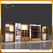antique clothing display cabinet for shopping mall promotion