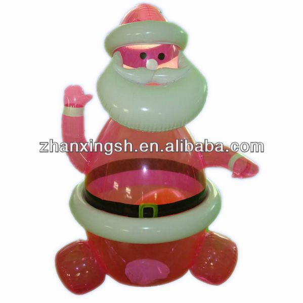 2014 shanghai zhanxing hot sale fashion popular new pvc inflatable christmas santa claus toy for family in good price