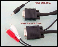15PIN VGA to usb female to rca male cable