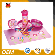 Plastic children dish set(plastic cup,placemat,spoon and fork)