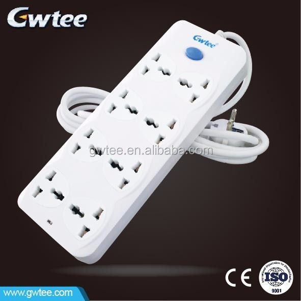 GT-6190 Top Quality Bottom Price 8 outlet rectangle new product extension socket