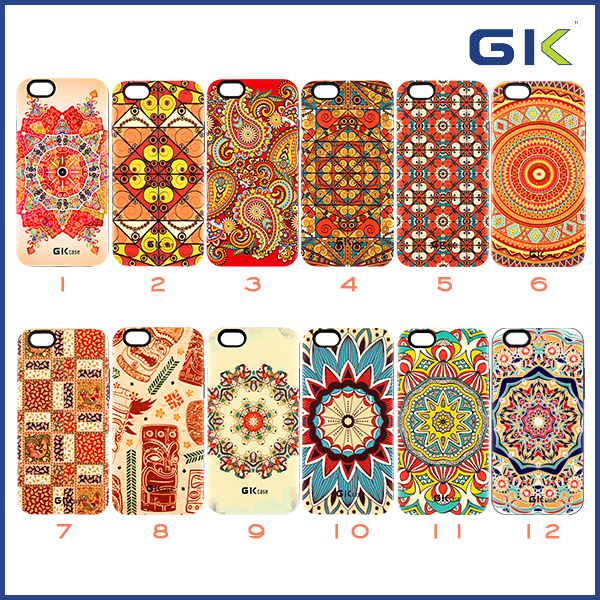 [GGIT] National Style 3D Sublimation Case For IPhone 6, TPU+PC 2 in 1 Phone Cover