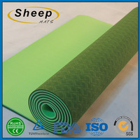 Customized fitness portable carrying tpe folding yoga mat