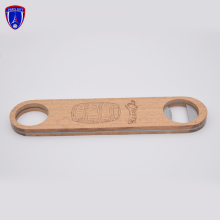 Professional custom engraved logo beer wood handle blank <strong>bottle</strong> <strong>opener</strong>