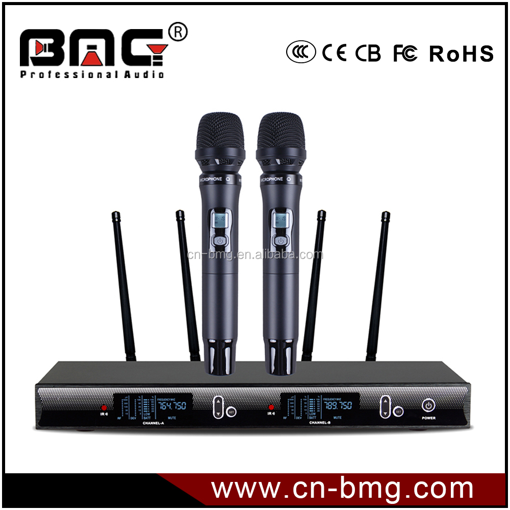 2017 BMG New Design GX-450 UHF Wireless Microphone System is Wireless Microphone Professional For Performance