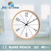 luxury office photo frame wooden world time wall clock