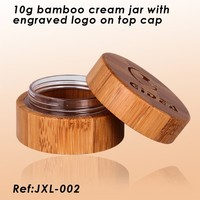 10g bamboo cream jar with engraved lid