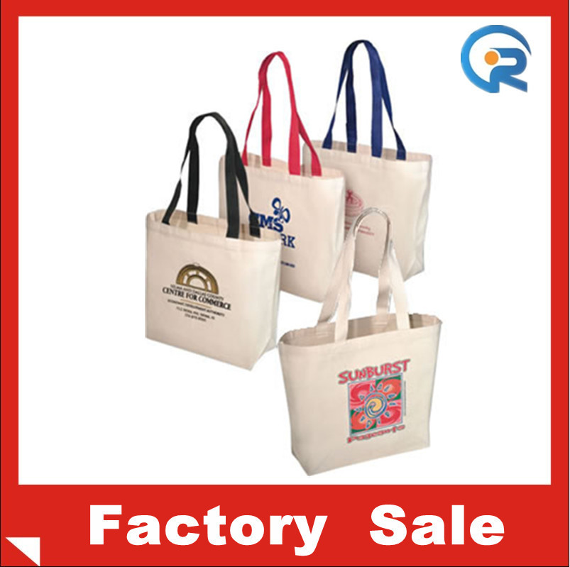 Supplier Customized cheap wholesale Convention Economy show cotton tote bags