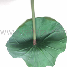 High quality cheap wholesale artificial lotus leaf fake leaf green PU lotus leaf with real touch