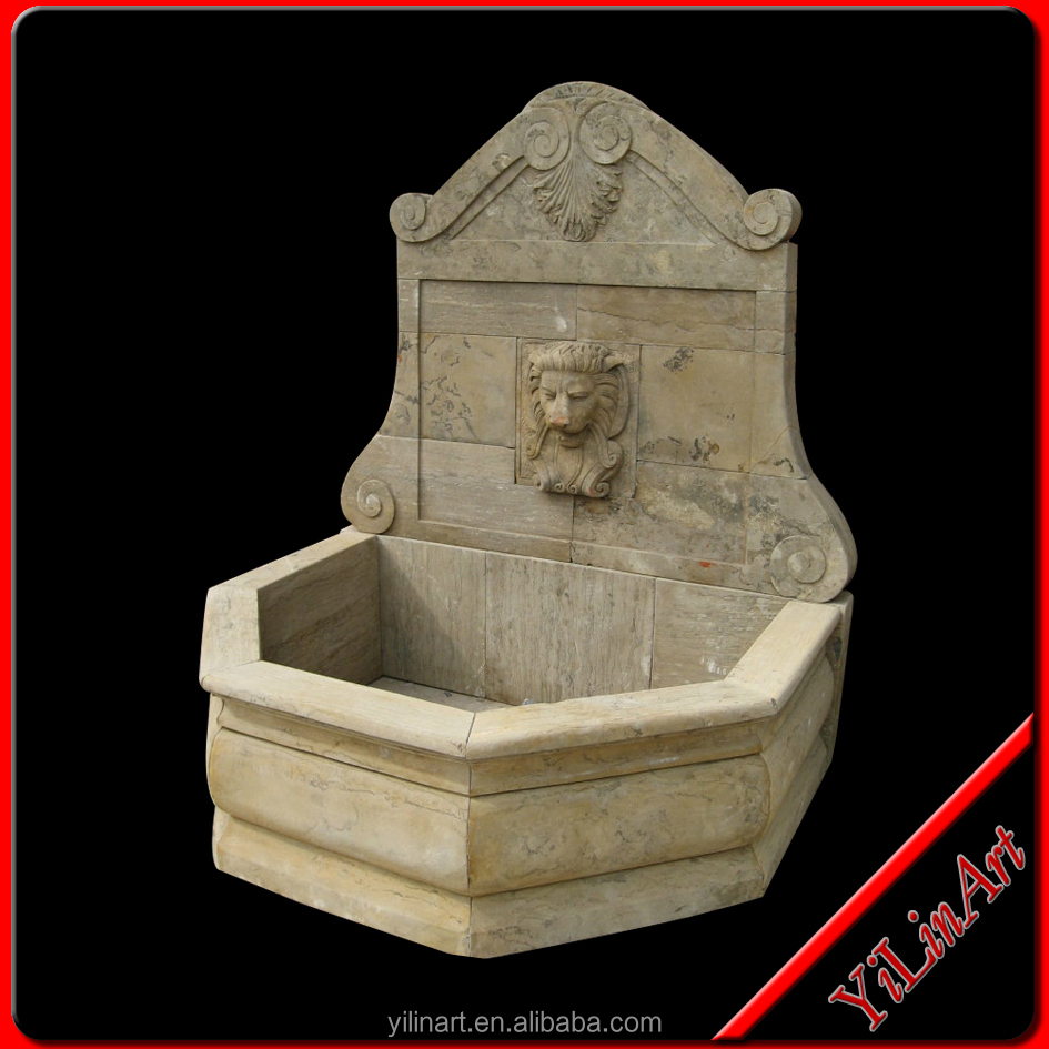 Natural Limestone Antique Stone Wall Fountain (YL-Z010)