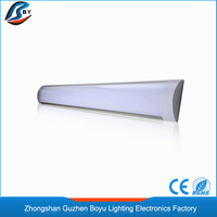 Led linear light fixture 2ft 3ft 4ft 5ft 8ft ceiling surface mounted LED Batten light tube/ flat led tube/narrow led panel light