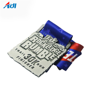 Wholesale Cheap custom Metal Running medals with ribbon