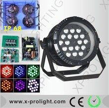 High brightness 18x15W 6in1 zoom par 64/outdoor led par 64/led par lights from china dj equipment