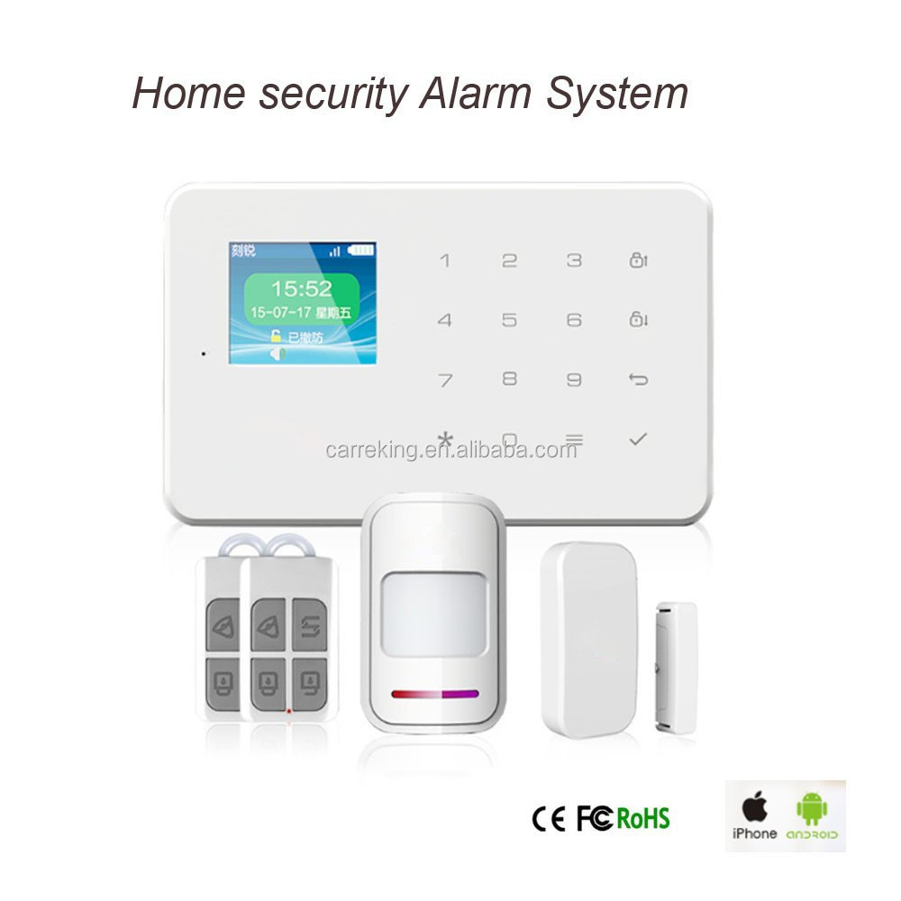 Touch Screen Panel 1.7 inch TFT Smart Home Security wireless GSM Alarm System gsm auto dial alarm system