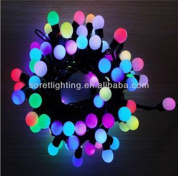 RGB Led Ball string light /led global string light with IP44 standard for outdoor use