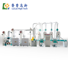 hot sale 30T per day 6FW-30TF corn mazie small scale domestic industrial commercial stone mini wheat flour mill