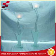 Lily flower-shaped Tall Glass Candle Holders FF-G2077