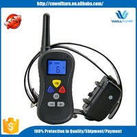 Rechargable Lcd Remote Control Dog Training Shock Collar With 16 Level Shock And Vibration