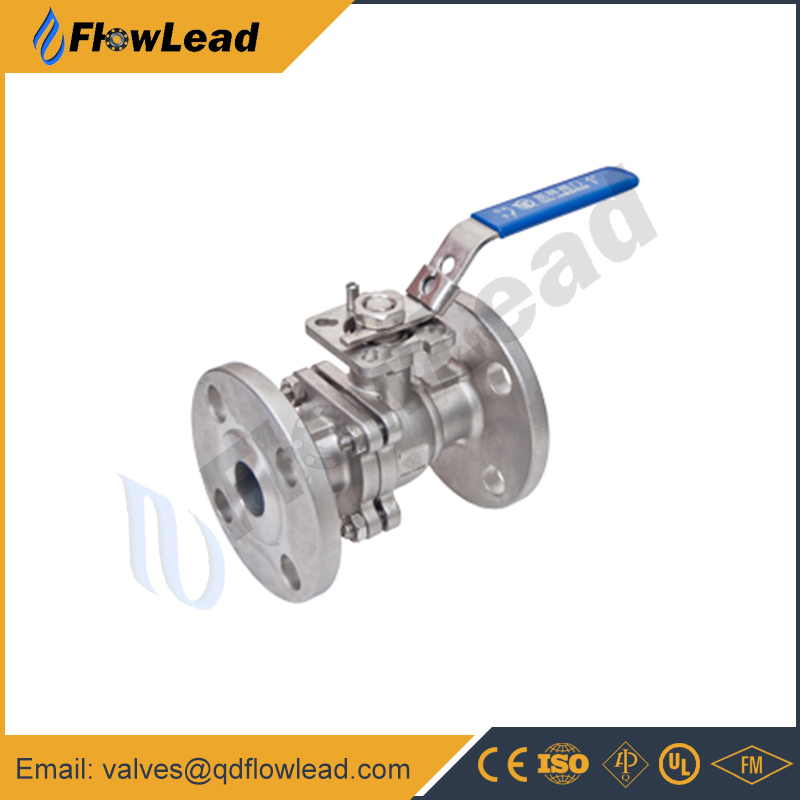 3pc high platform high pressure direct mounting pad flanged end stainless steel ball valve