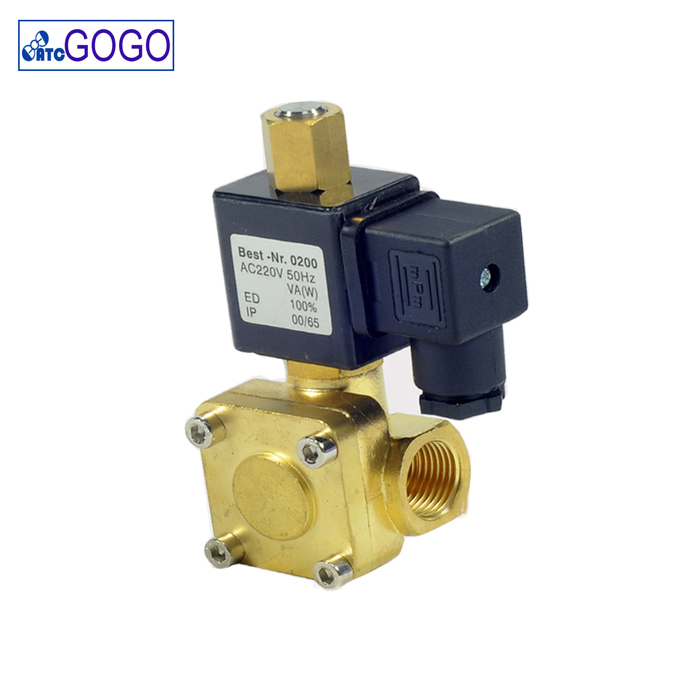 "0955105 <strong>G1</strong>/4"" 1.6 Mpa high pressure air compressor normally open water solenoid valve"