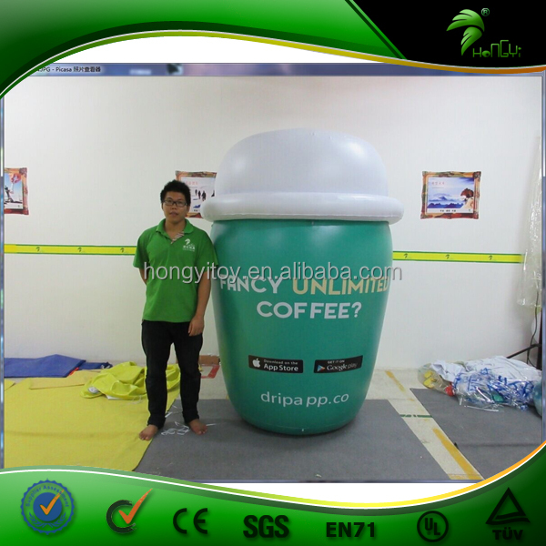 Hot Sale Cheap Price Giant Inflatable Coffee Cup For Advertising / Inflatable Model