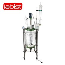 Laboratory pharmaceutical chemical glass jacketed reactor