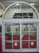 2014 guangzhou arch pvc window/pvc windows in china upvc sliding windows garden windows with grills