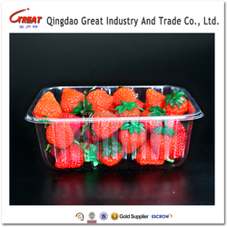PET plastic fresh fruit container trays packaging for strawberry