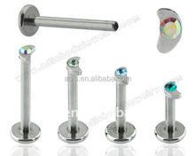 Beautiful piercing jewelry surgical steel internally threaded labret