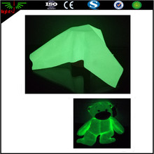 glow in the dark cotton fabric for making glow in the dark animal toys / formal dresses for kids
