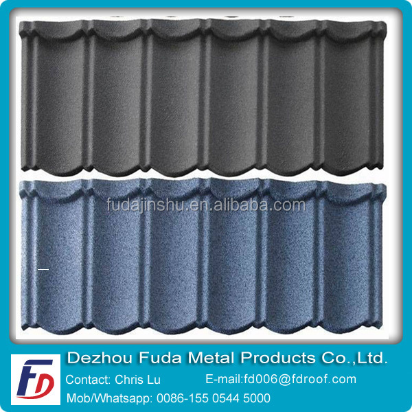 Kerala Spanish Style Bule Metal Roof Tiles