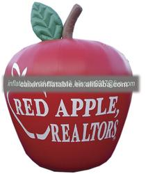 outdoor display pvc giant big red inflatable apple for sale