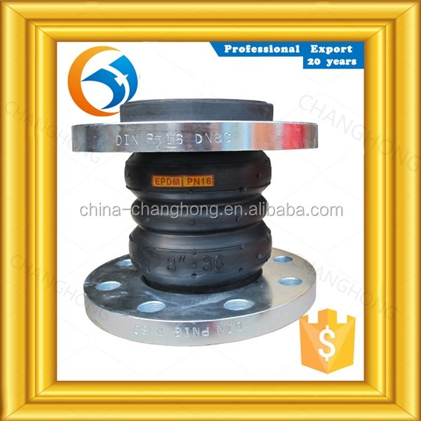 Factory supplies fitting pipe din double sphere rubber expansion joints for Pipe