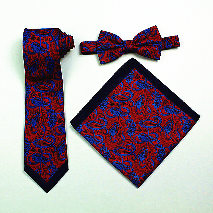 Wholesale custom tie pocket square and bow tie