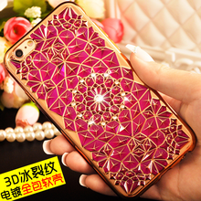 Luxury 3D Ice cracks Design Electroplating TPU Bumper Frame Back Case Cover For iPhone 6/6S 4.7 Inch
