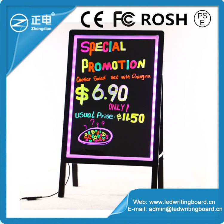 ZD folding type glowing drawing board,electronic promotional display