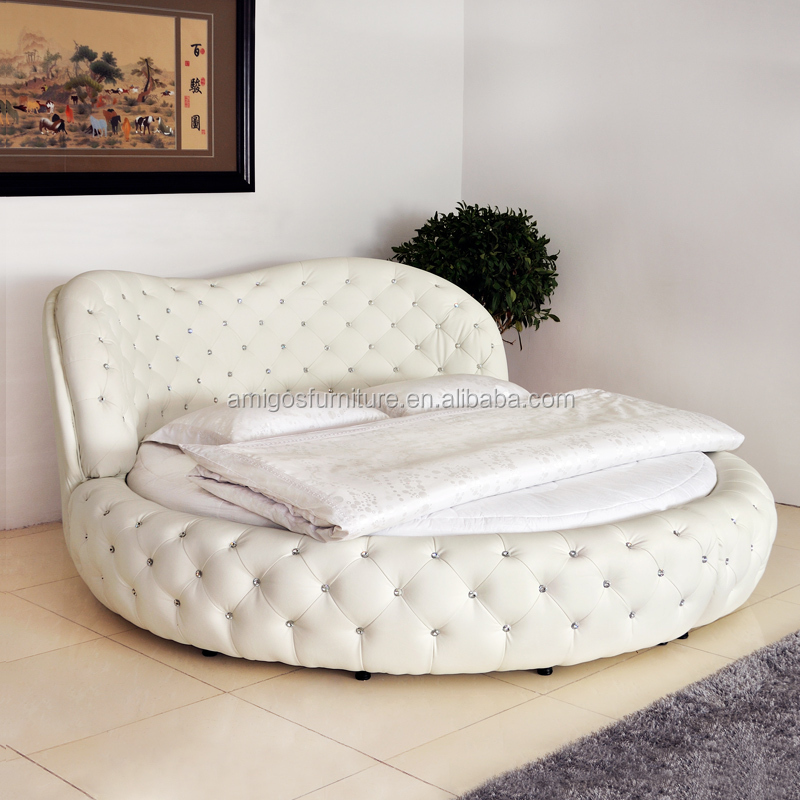 White purple cheap king size hot sell round beds for sale for Round bed design