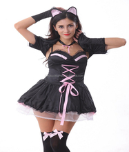 Hot selling sexy anime cat cosplay costume for carnival