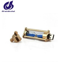New Arrival Sand Glass Usb Flash Drive 8gb with customized Logo