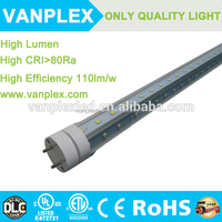 Refrigerator ETL approved 3ft/4ft/5ft/6ft/8ft v shape t8 led tube 110lm/w 100-277Vac for North American